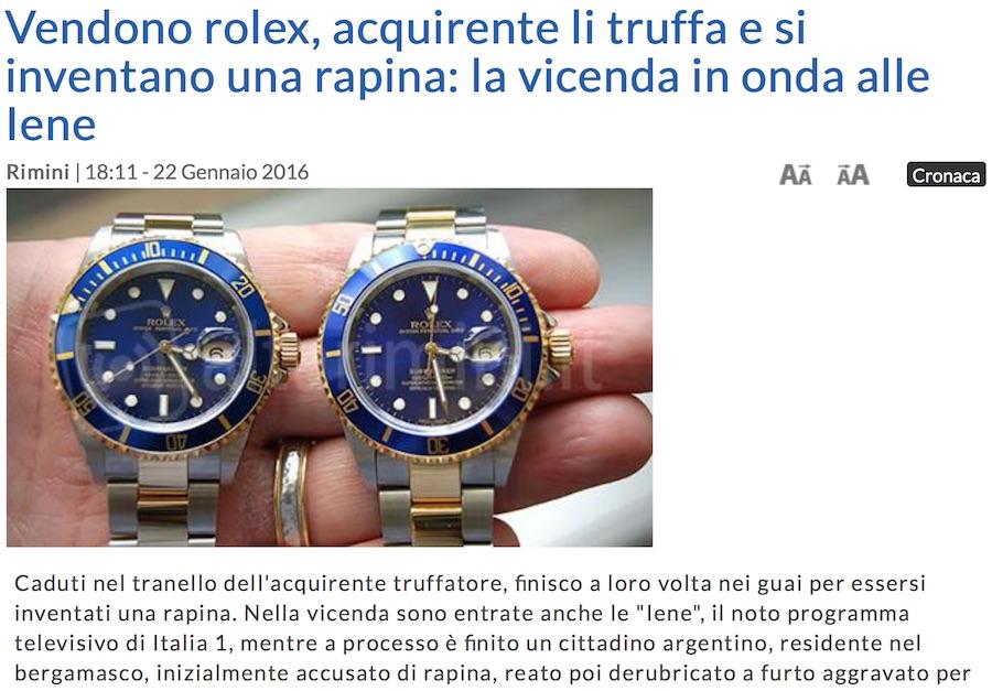 Rapina Rolex